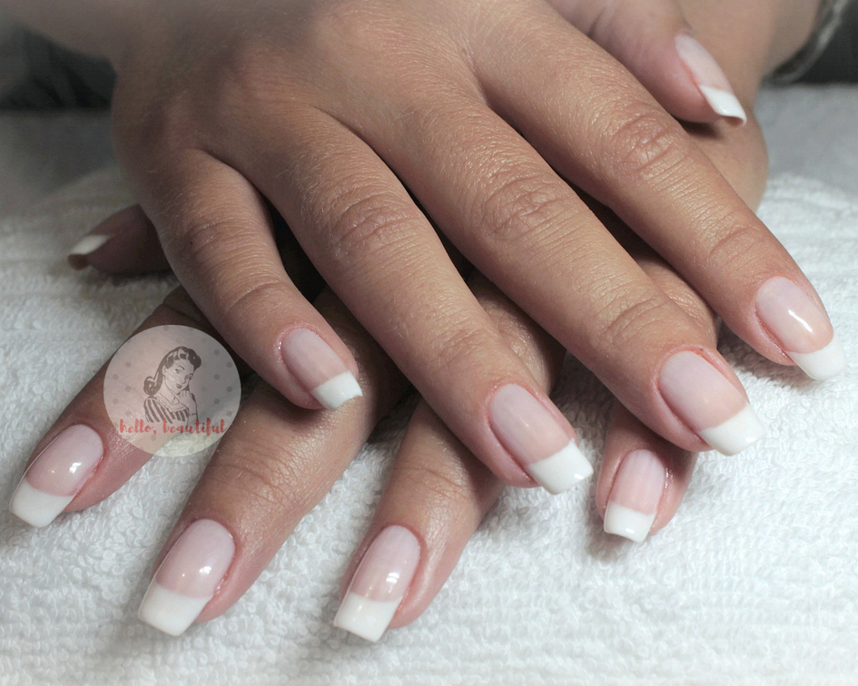 french manicure long natural nails 2018