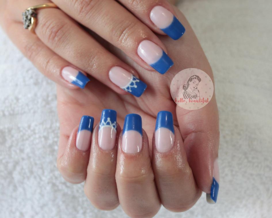 high blue french summer mani