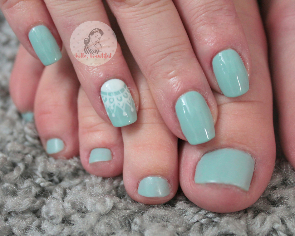 summer mani and pedi matching colours