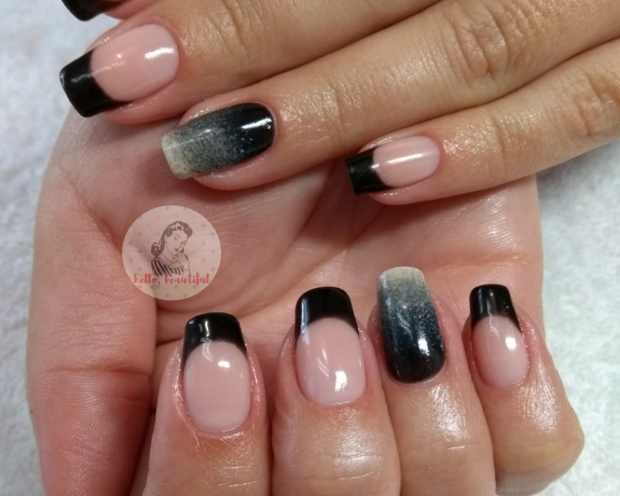 faded black french manicure autumn 2018