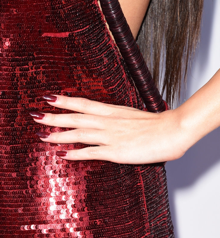 matching red nails