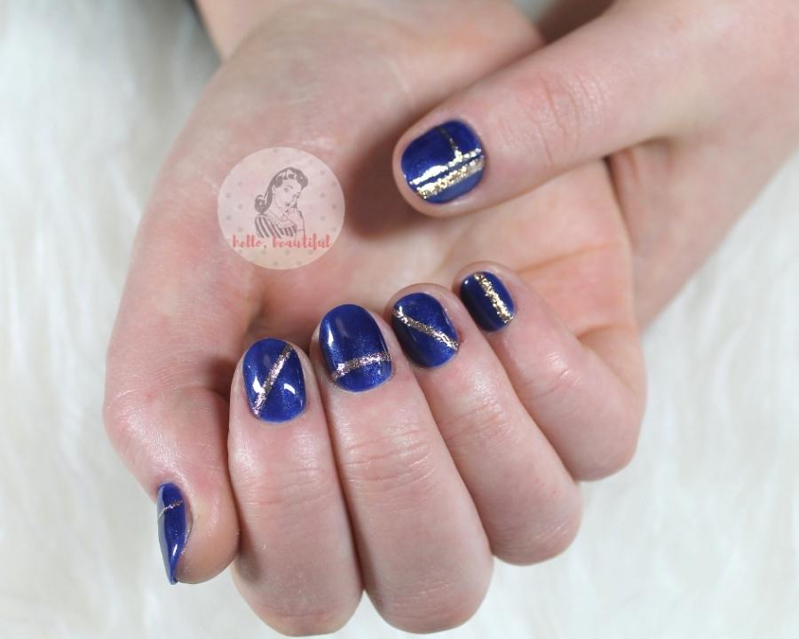 lush blue mani