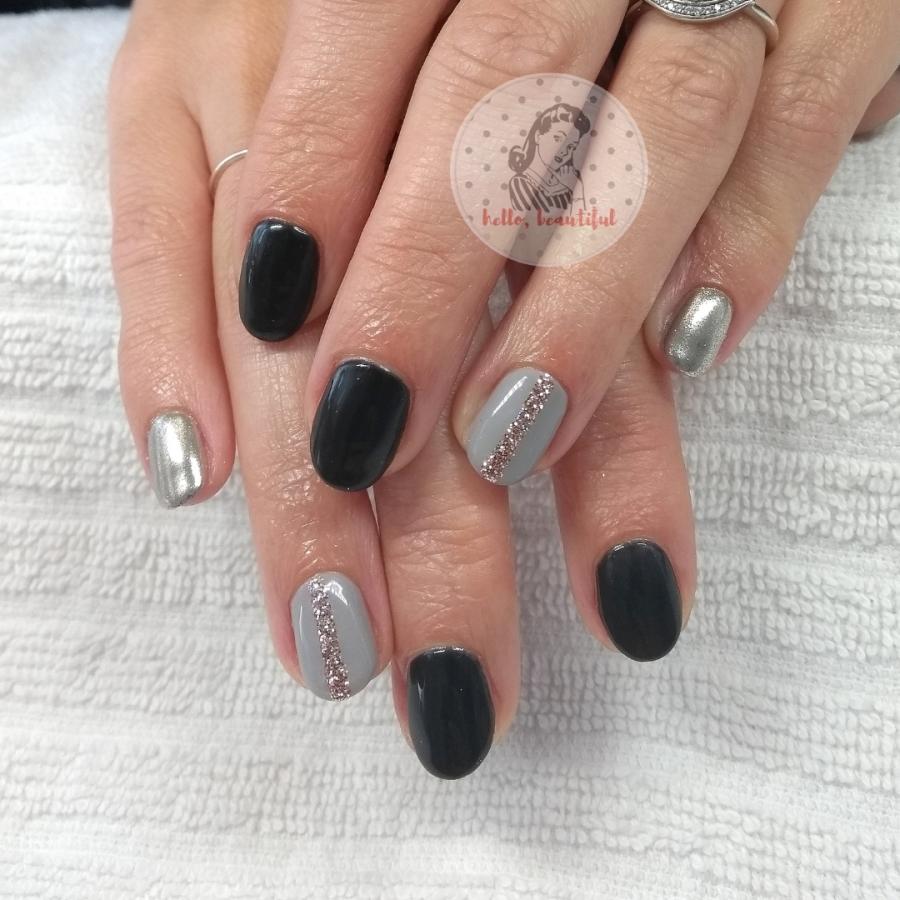 black chrome grey
