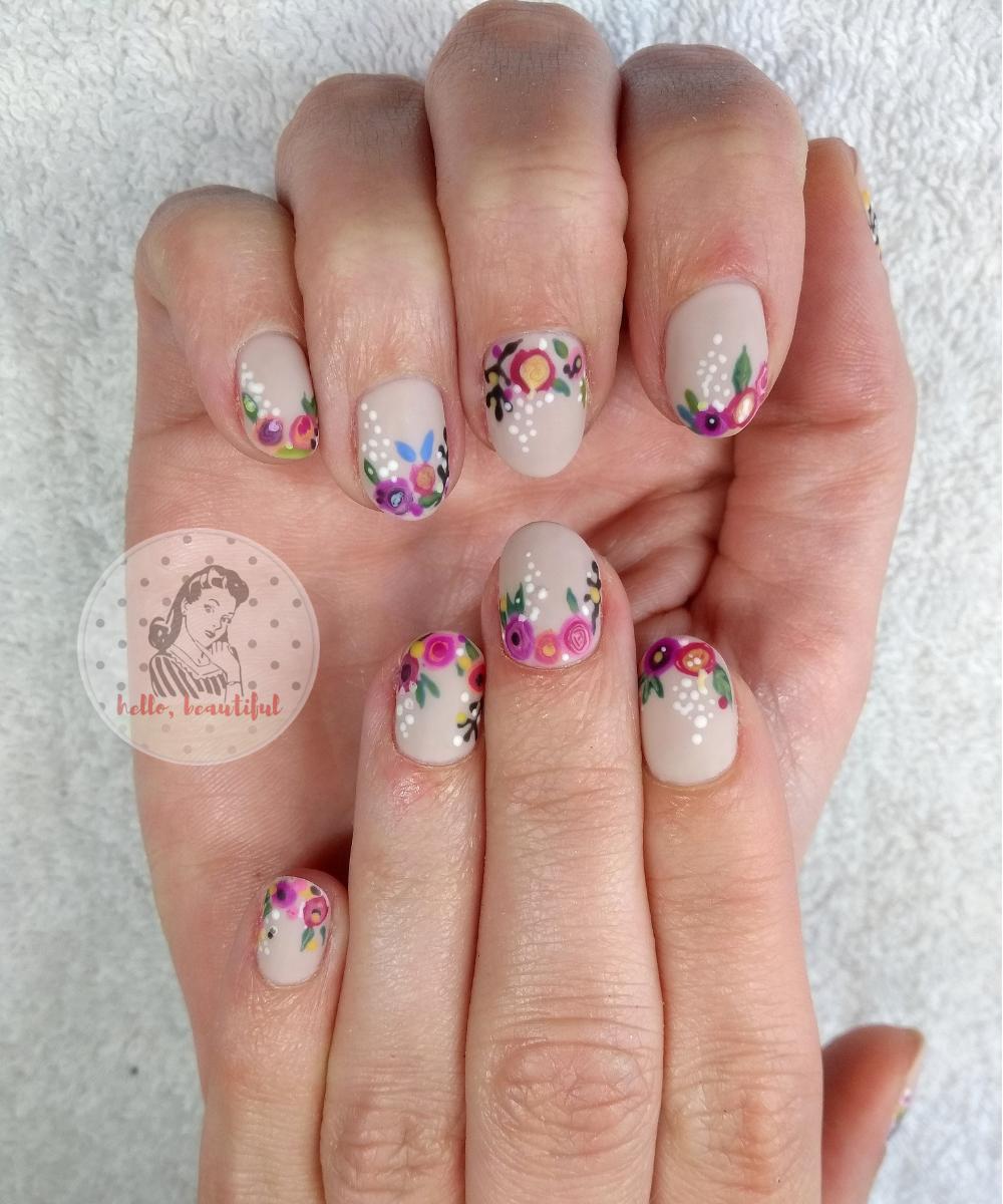 spring flowers handpainted
