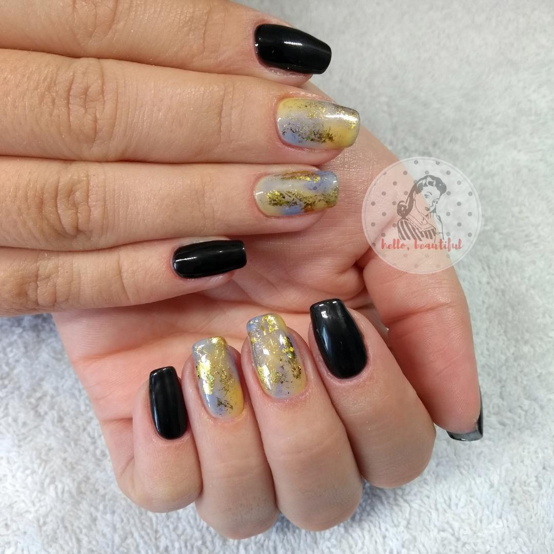 watercolour manicure