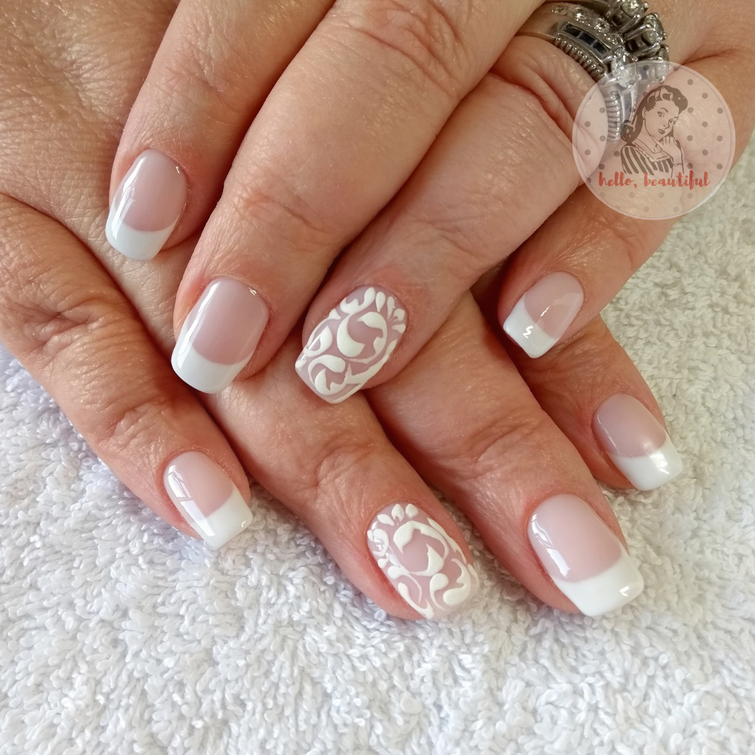 bridal french accent nail