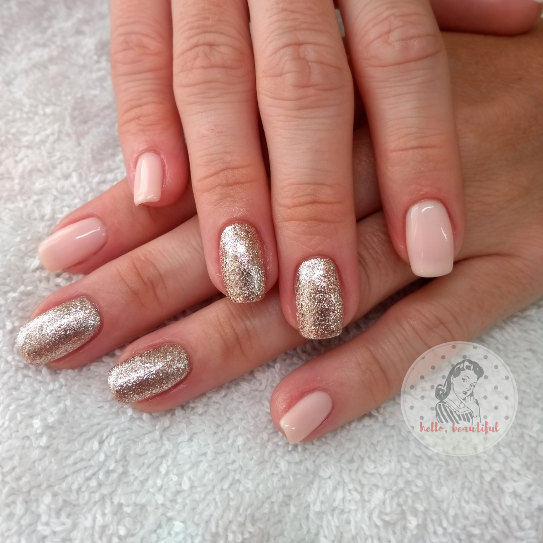 french bloom gold glitter