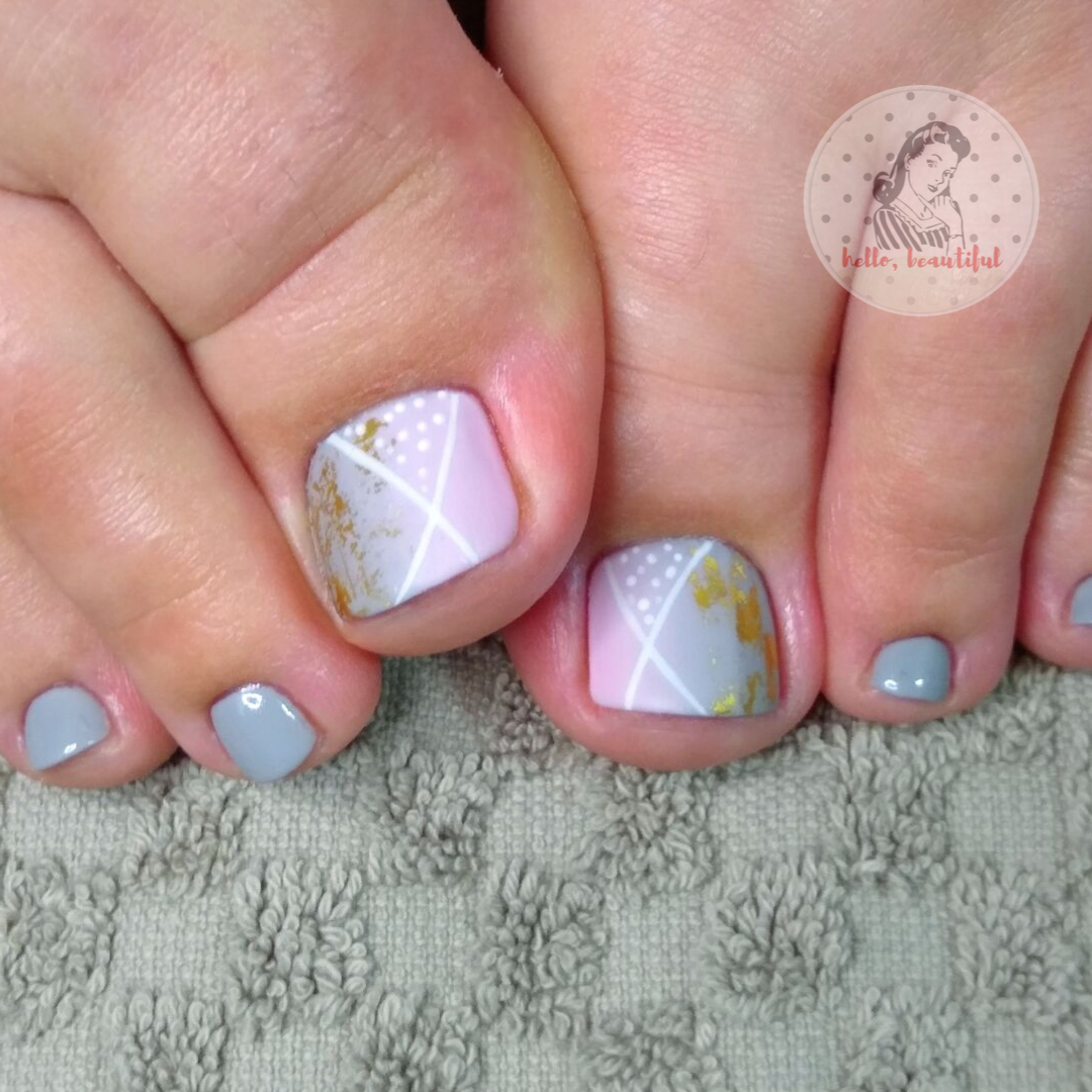 grey toes pedi