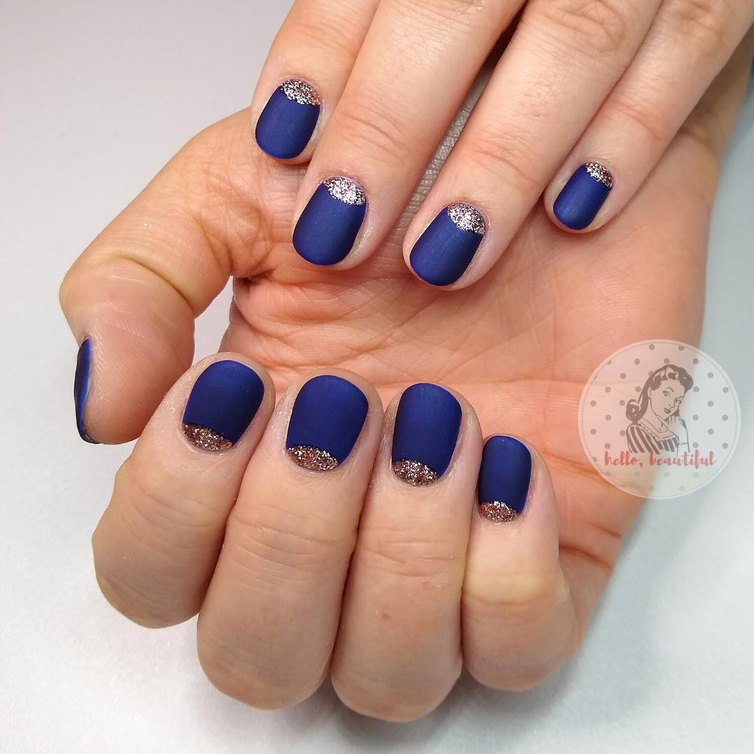 blue matte nail set