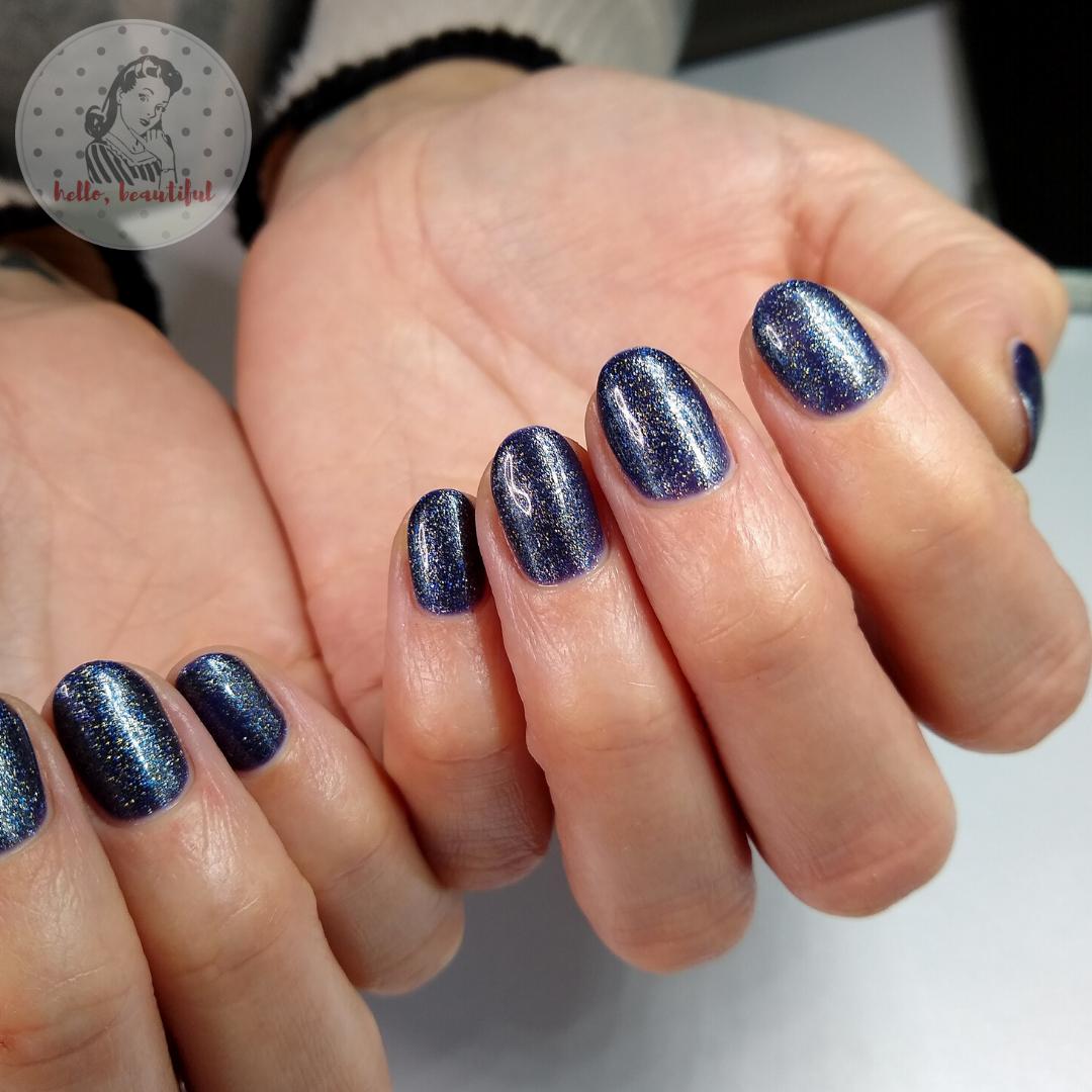 galaxy manicure close up