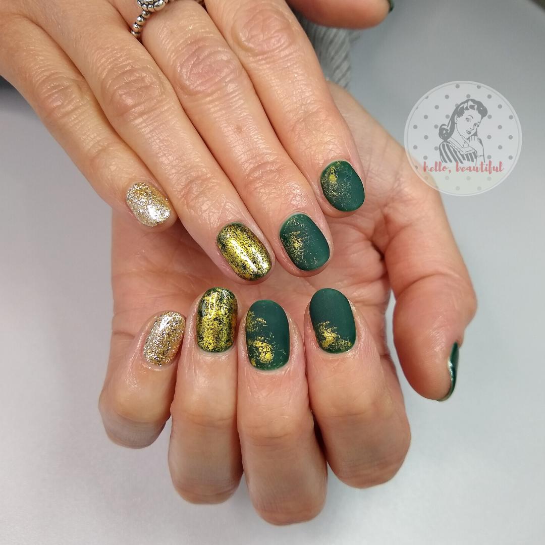 green matte golds